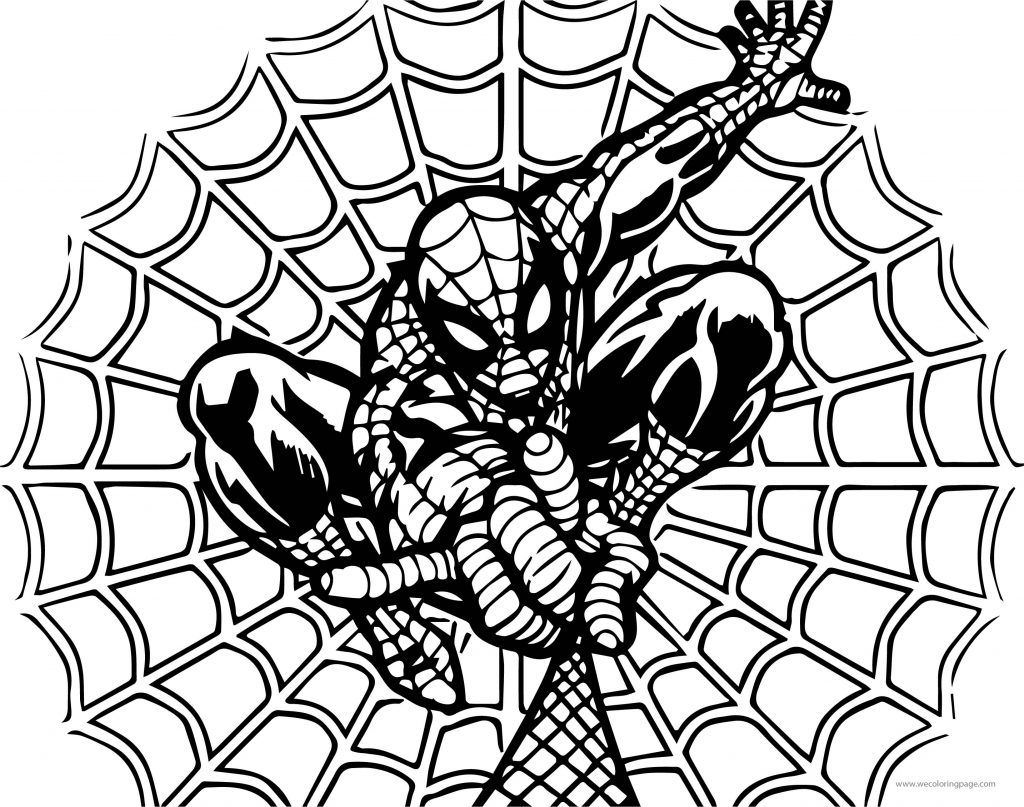 Spider Man Rope Net Coloring Page Wecoloringpage Com Coloring Pages Spiderman Spider