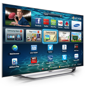 Interactive Smart TV with Face Recognition Samsung Smart