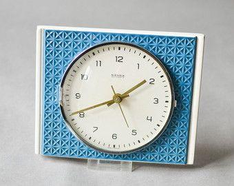 Tremendous Vintage Kienzle Wall Clock Kienzle Clock Blue Pottery Home Interior And Landscaping Synyenasavecom