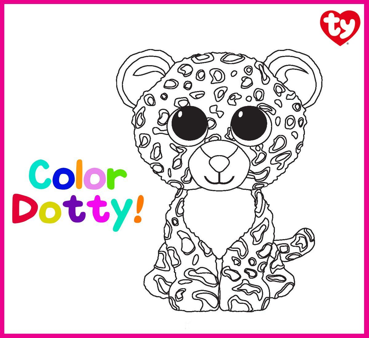 Dotty Has Lots Of Spots Can You Help Give This Leopard Some Color