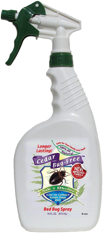 Bed Bug Spray and Repellent Cedar BugFree Bed Bug Spray