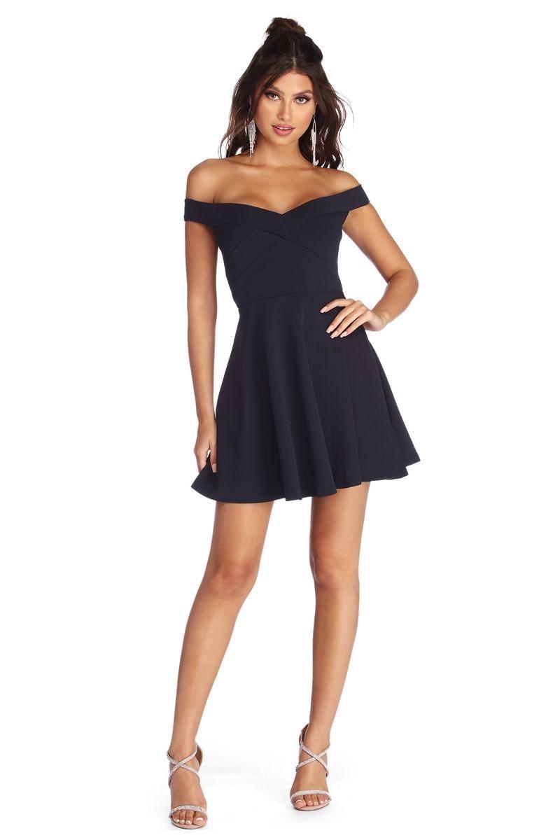Cross Over Skater Dress In 2021 Dresses Skater Dress Skater Style Dress [ 1200 x 800 Pixel ]