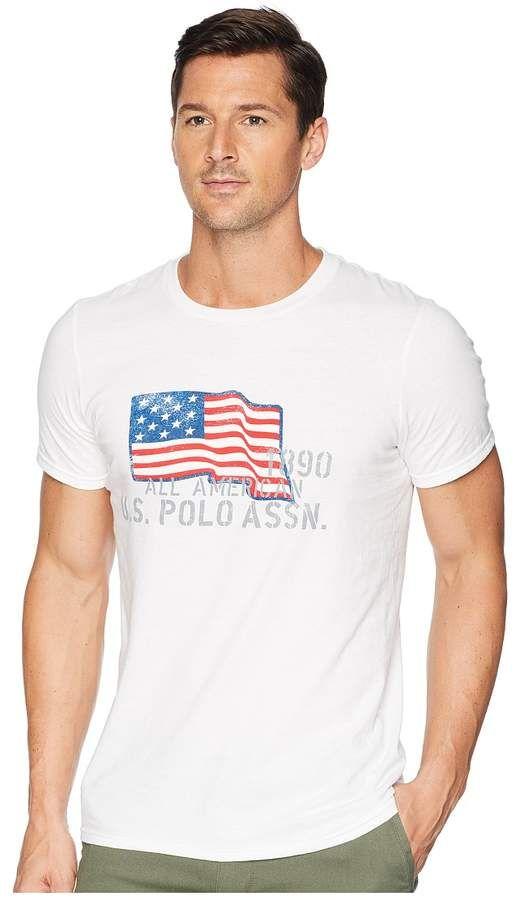 6f9d9f32 U.S. Polo Assn. USPA Flag Chest Crew Tee Men's Long Sleeve Pullover ...