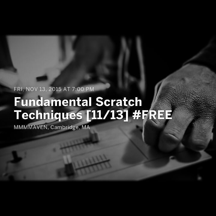 TONIGHT: Our @mmmmavenproject #FreeFridays continue with an exploration of basic scratching techniques.  If you're a DJ this one is for you. RSVP to the link in our bio to reserve your spot and to get a free goodie bag with @RedBullBOS @PolarSeltzer @ScoutCambridge stickers and more  #music #art #technology #education #community #cambma #cambridge #dj #djing #djs #turntables #turntablism #hiphop #disco #bass #housemusic #beats #bosarts #artsed #STEAM by mmmmaven November 13 2015 at 08:47AM