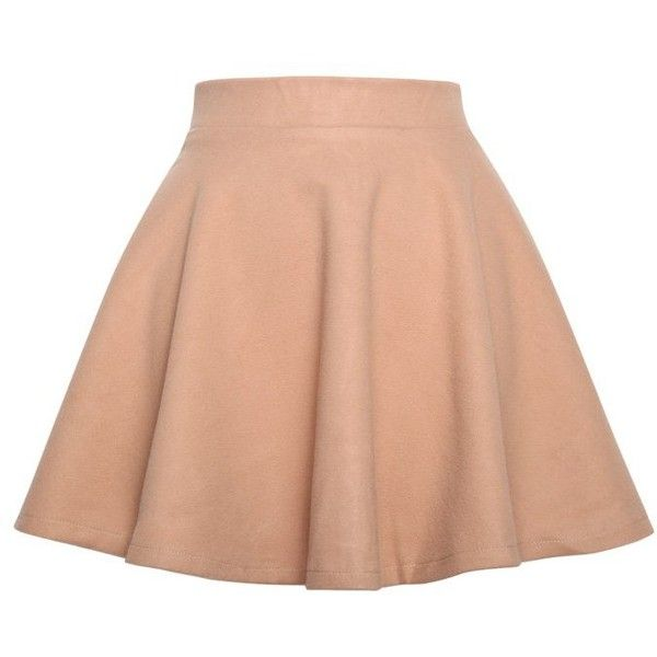 Relaxfeel Women S Light Brown Pleated Woolen Half Skirt
