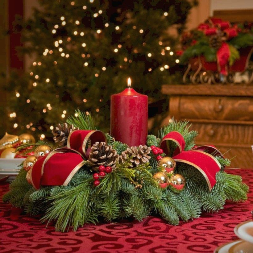Christmas Centerpiece Ideas for Round Table . Christmas