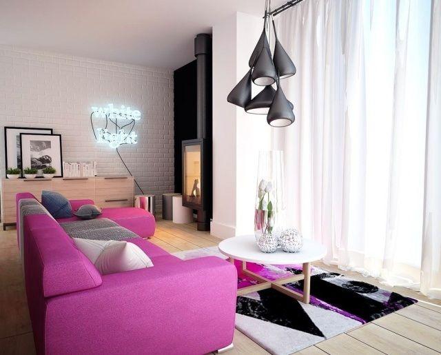 Aménagement salon contemporain – 32 photos et idées cool | Photos ...
