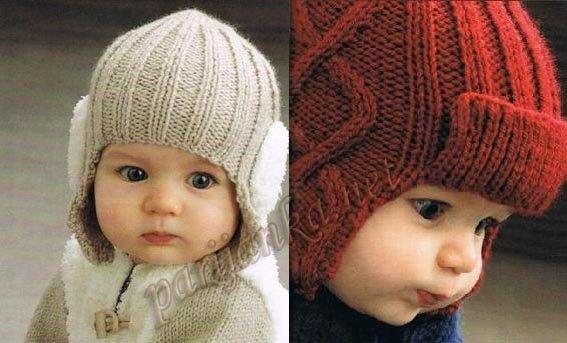 Gorro para bebe tejido a dos agujas, . | Fotos niños | Pinterest