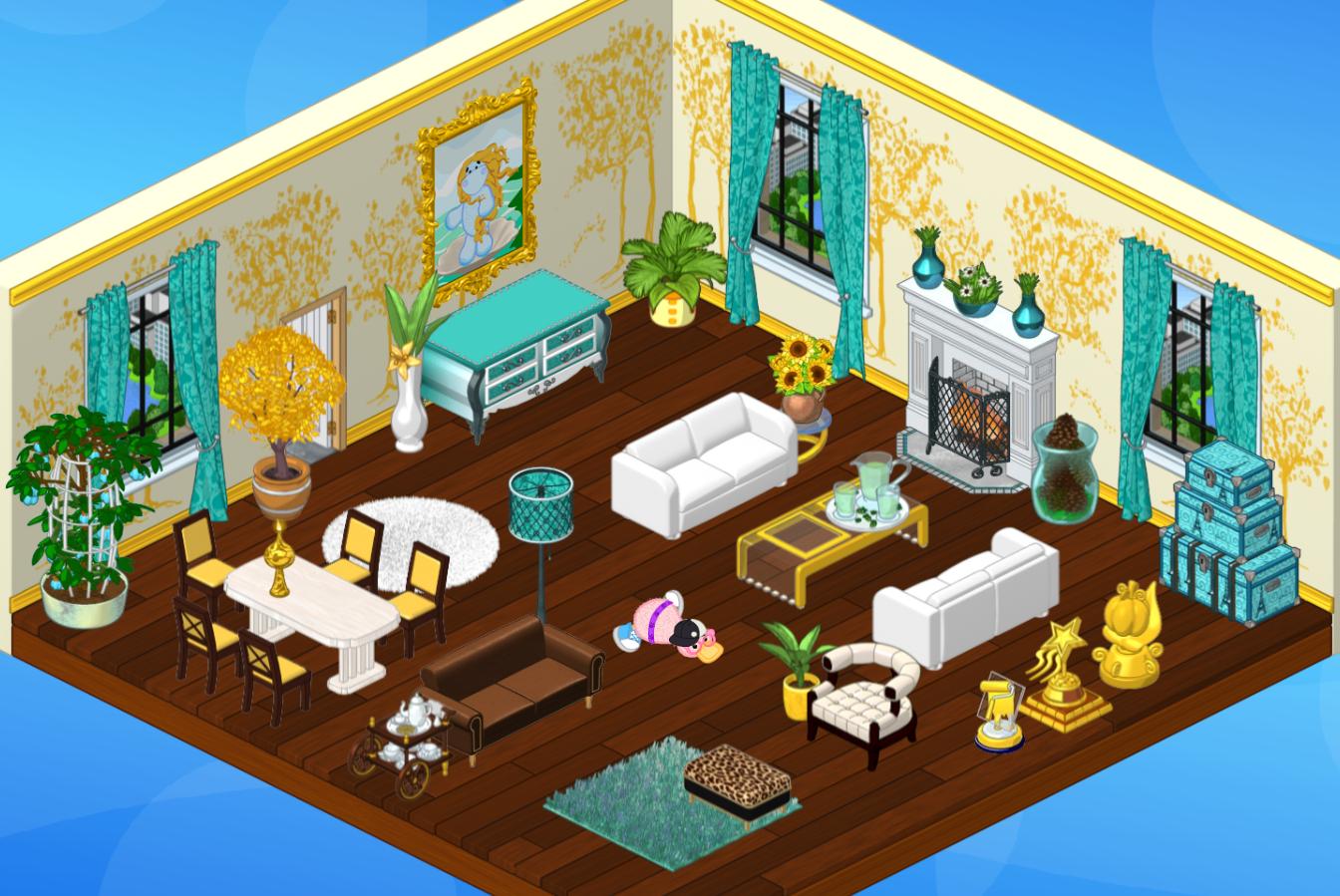 Blue Ave Room On Webkinz Webkinz Webkinz Stuffed Animals Room Design