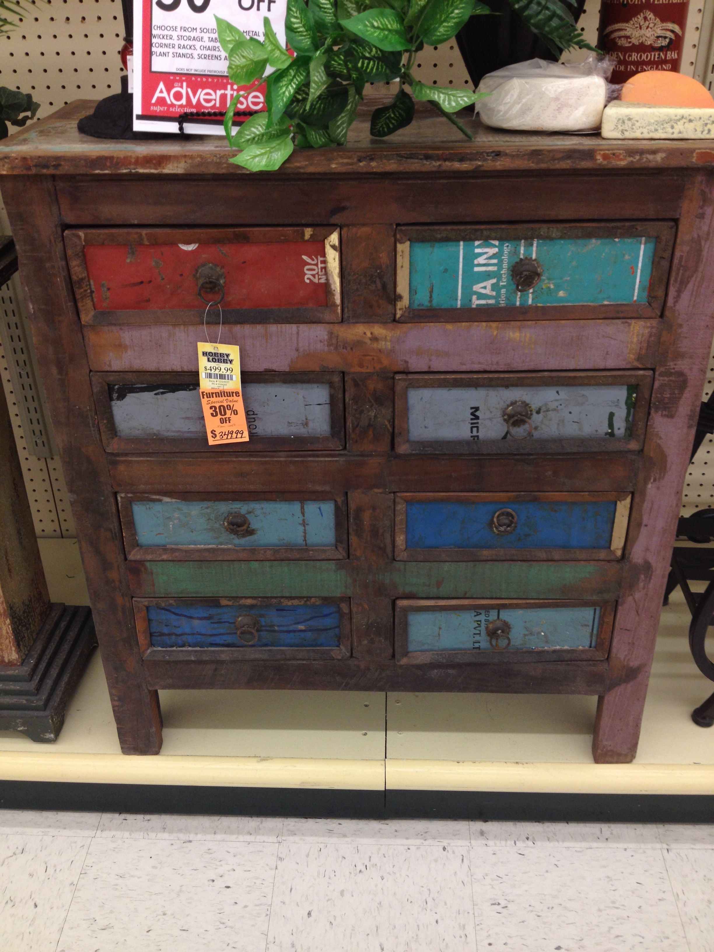 LOVE this dresser from Hobby Lobby