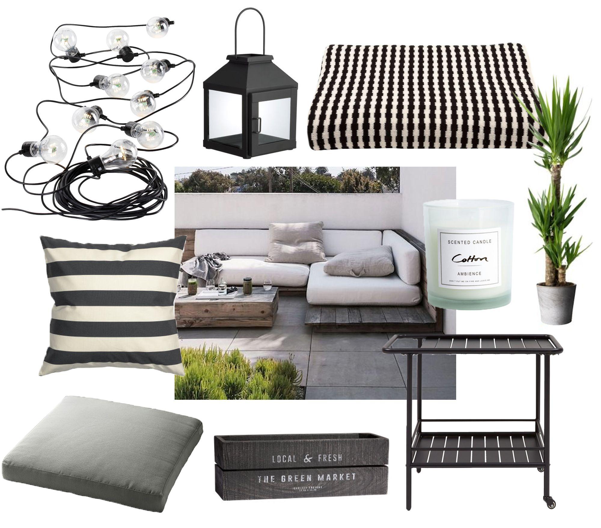 Outdoor interior – lounge area.