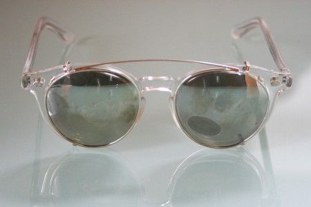 polaroid glasses vgz9  Vintage Round Polaroid Glasses in clear acrylic frame as worn by Jack  Nicholson Sunglasses clip