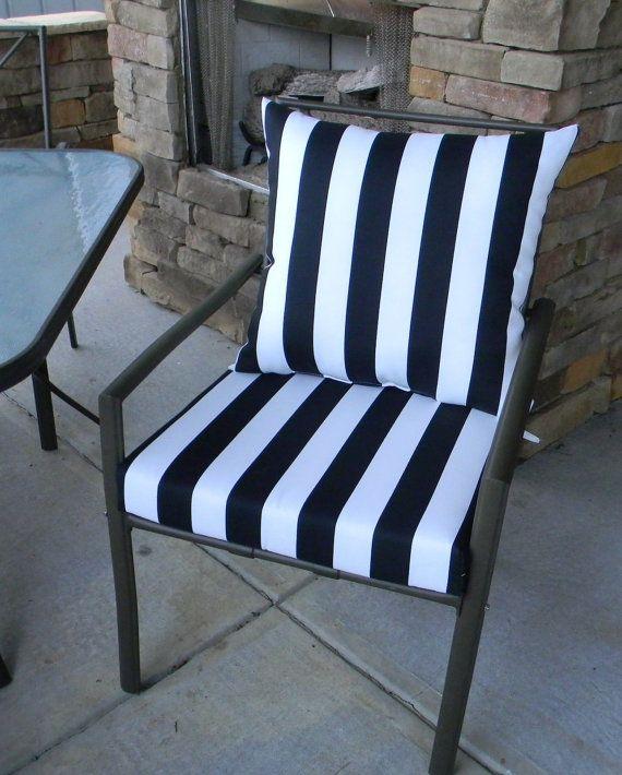White Stripe Foam Cushion Back Pillow
