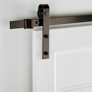 Everbilt 72 In Dark Oil Rubbed Bronze Strap Sliding Barn Door
