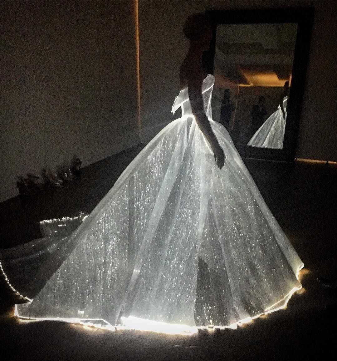 Celestial grandeur. Illuminating ballgown. Guess who? #metgala #zacposen #glamour