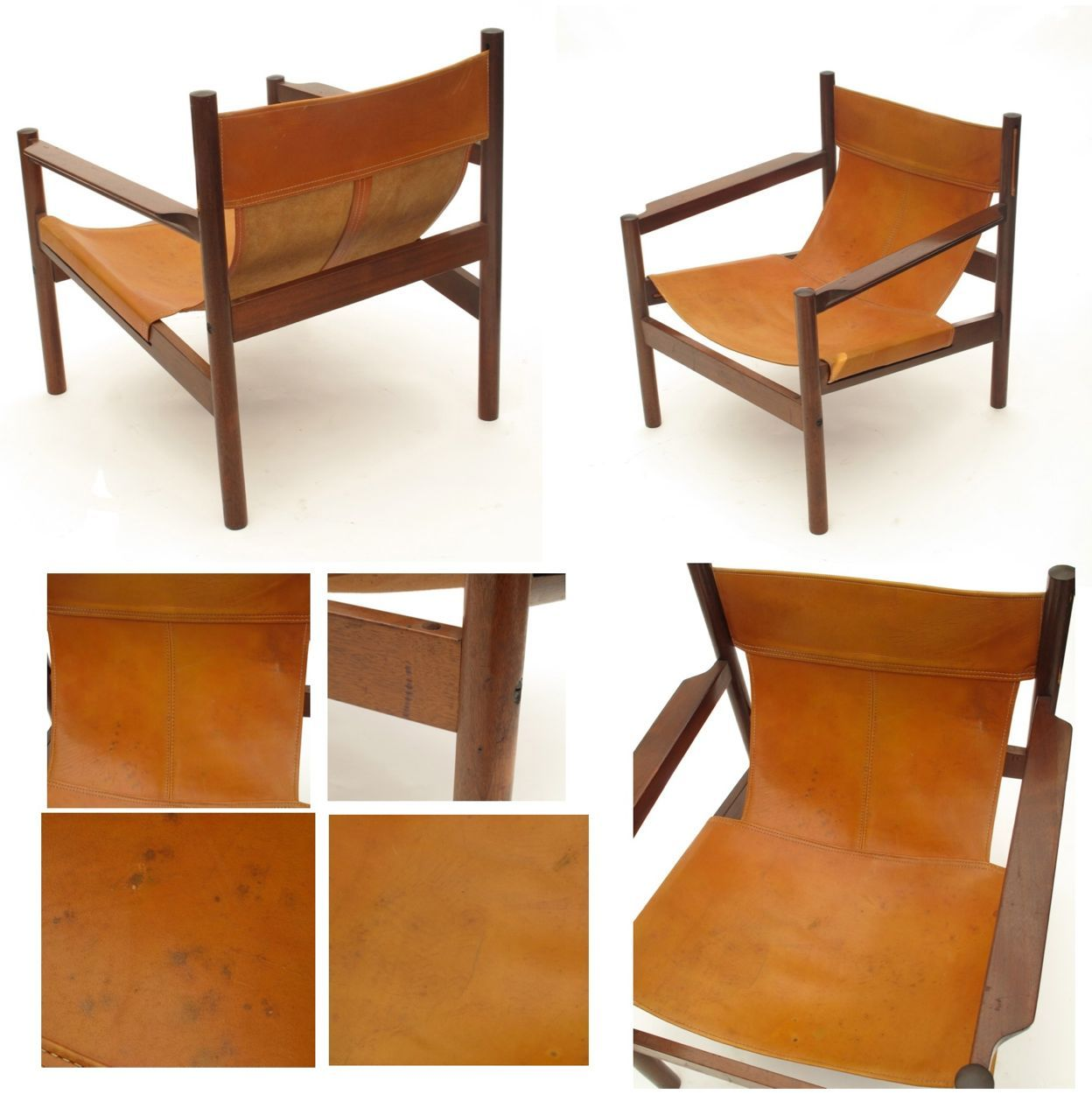 michel arnoult brazilian leather sling chair