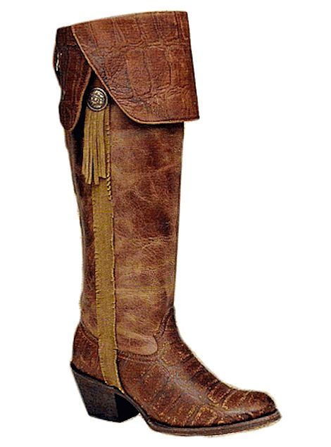 Corral Boots Vintage Deer Knee High C1606 Cognac, $268.00