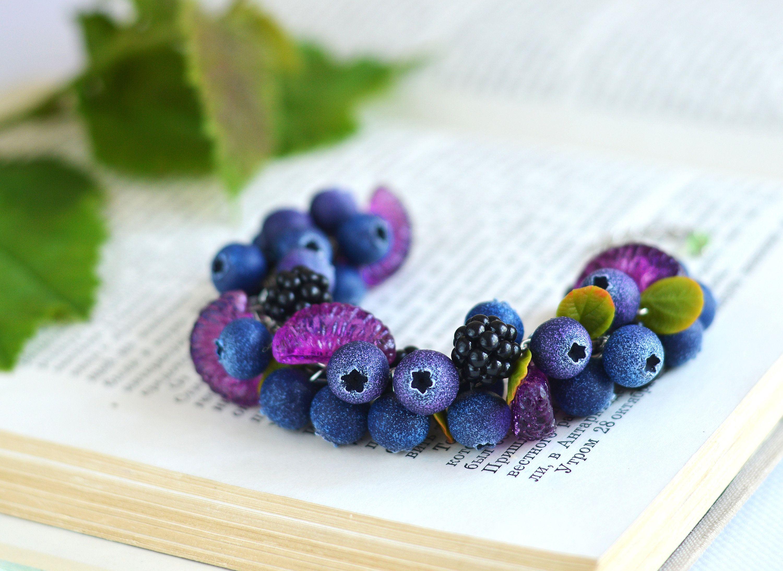 Bilberry Bracelet Grapefruit Jewelry Blueberry Bracelet