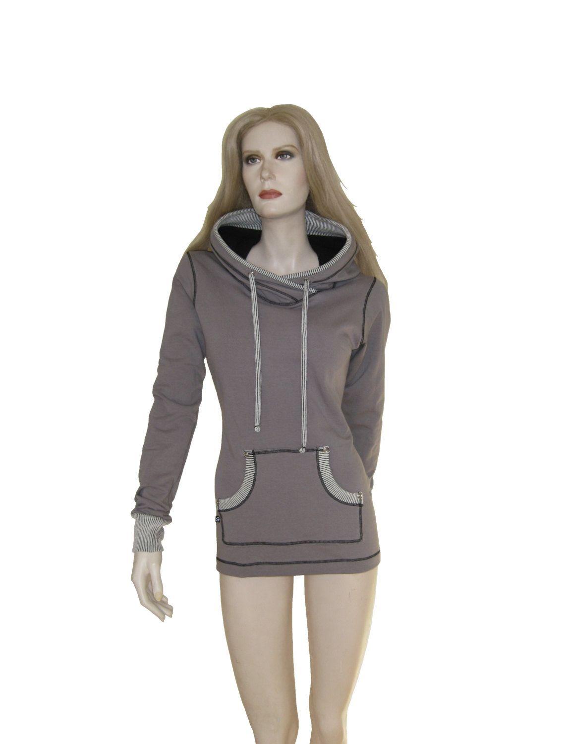 """Chandail """"GreyMix"""", sweat à capuche avec poche, kangourou, chandail à capuchon en molleton gris. de la boutique atelierPATH sur Etsy"""