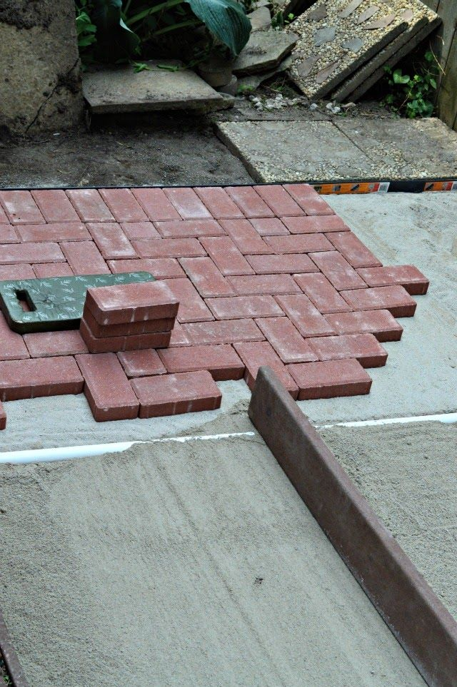 Inspired Wives How To Build A Brick Patio Diy Patio Brick