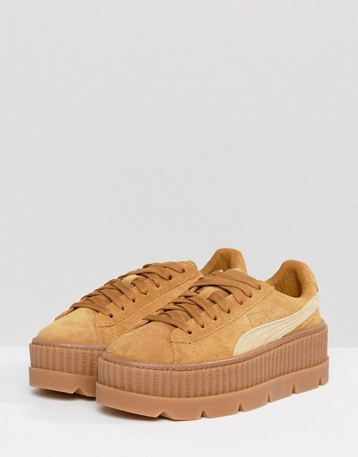 wholesale dealer cbf2a 12eaa Puma X Fenty Suede Creepers In Sand | Puma in 2019 | Shoes ...