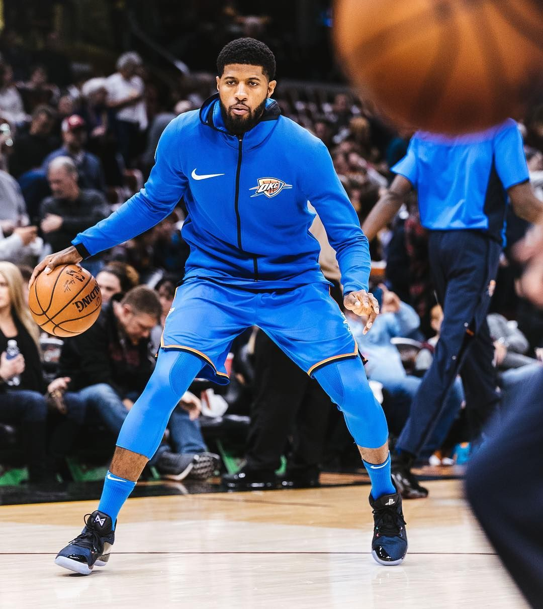 "edde7ba7a9aa ""Paul George debuts the Nike  PG2 ""Playstation"" against the Cavs. Dropping"