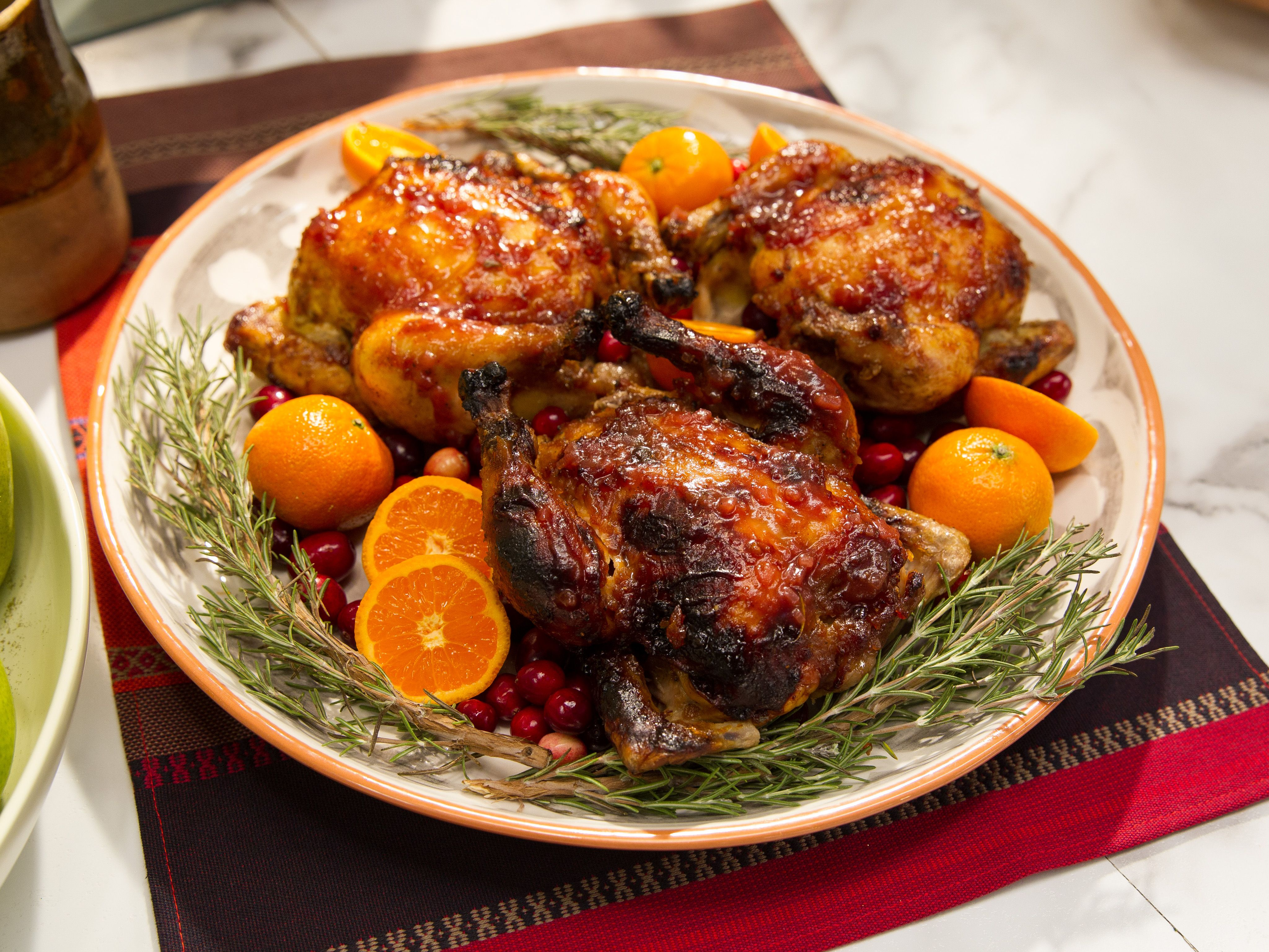 Clementine and cranberry glazed cornish game hens recipe cornish clementine and cranberry glazed cornish game hens forumfinder Gallery