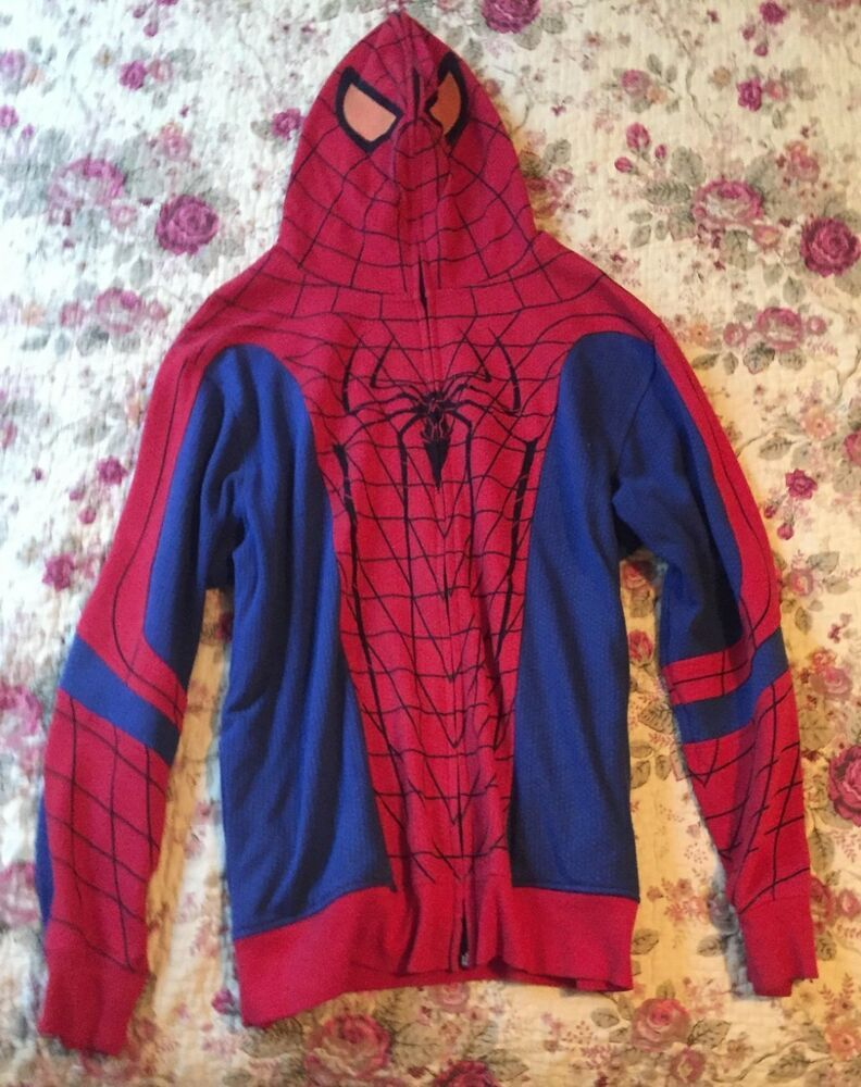Amazing Spider Man Movie Men L Zip Up Hoodie Long Sleeve Sweatshirt Jacket Fashion Clothing Shoes Accessories Sweatshirt Jacket Trendy Sweatshirt Hoodies [ 1000 x 792 Pixel ]