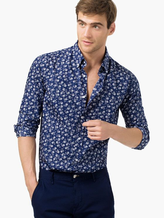 e4261605a FLORAL PRINT SHIRT - MASSIMO DUTTI - Simple Shirts, Casual Shirts For Men,  Men