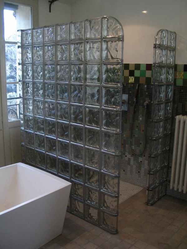 Briques de verre métallisées Rouviere Collection Bad Pinterest