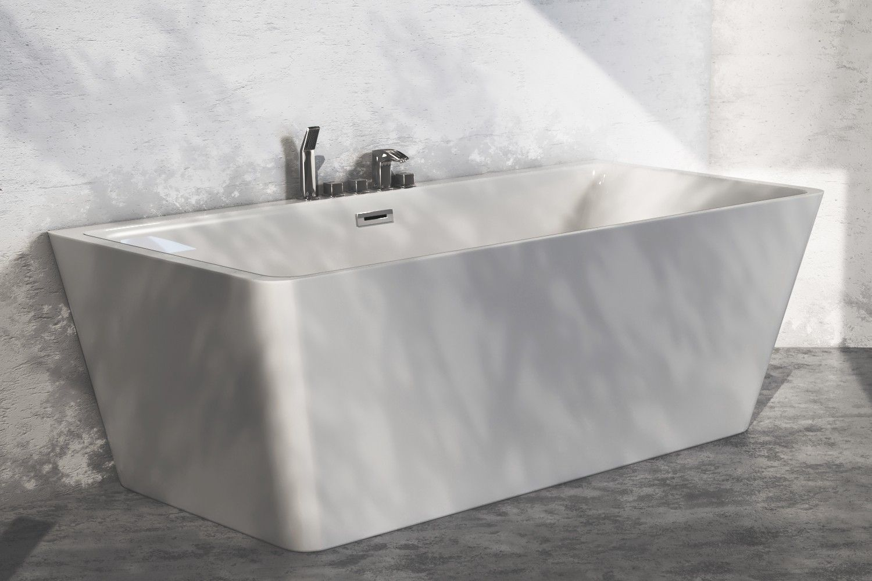 Vorwand Badewanne The North Bath Erato Wall 150x75cm Sanitar Acryl Weiss Badewanne Acryl Weiss Wanne