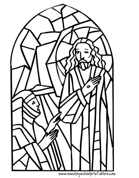 Stained glass - Catholic Coloring Page   Catholic Coloring Pages ...