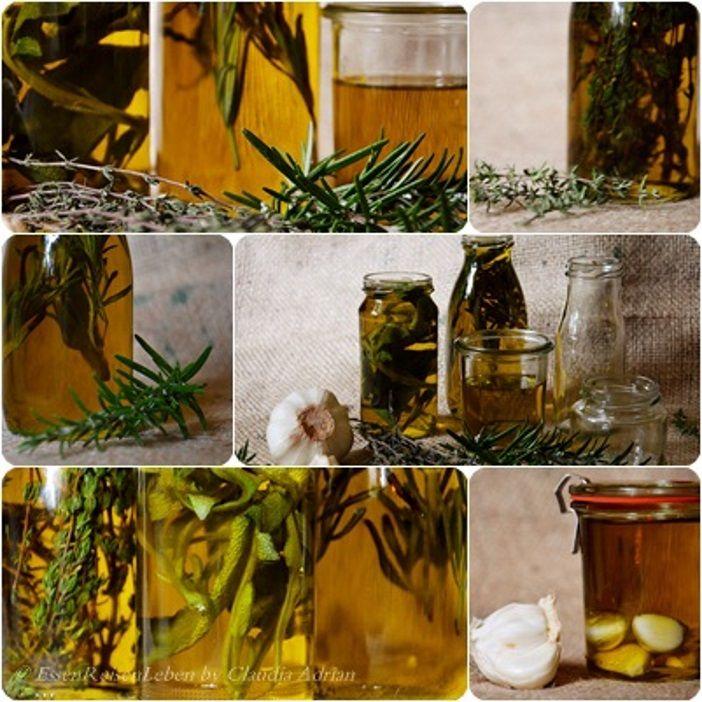 Wir setzen die Öle immer ganz einfach mit den jeweiligen Kräutern an. Nach ca. 2 Wochen ist das Öl fertig und durchgezogen, dann entfernen wir die Kräuterzweige wieder. Dunkel & kühl lagern und einfach zu Salaten, Fleisch/Fisch oder auf gerösteten Brot geniessen. https://www.facebook.com/EssenReisenLeben #EssenReisenLeben #Olivenöl #novofrantoiodichianni #Toskana #Kräuteröl #gesund #Ernährung #Salbei #Thymian #Rosmarin #Knoblauch