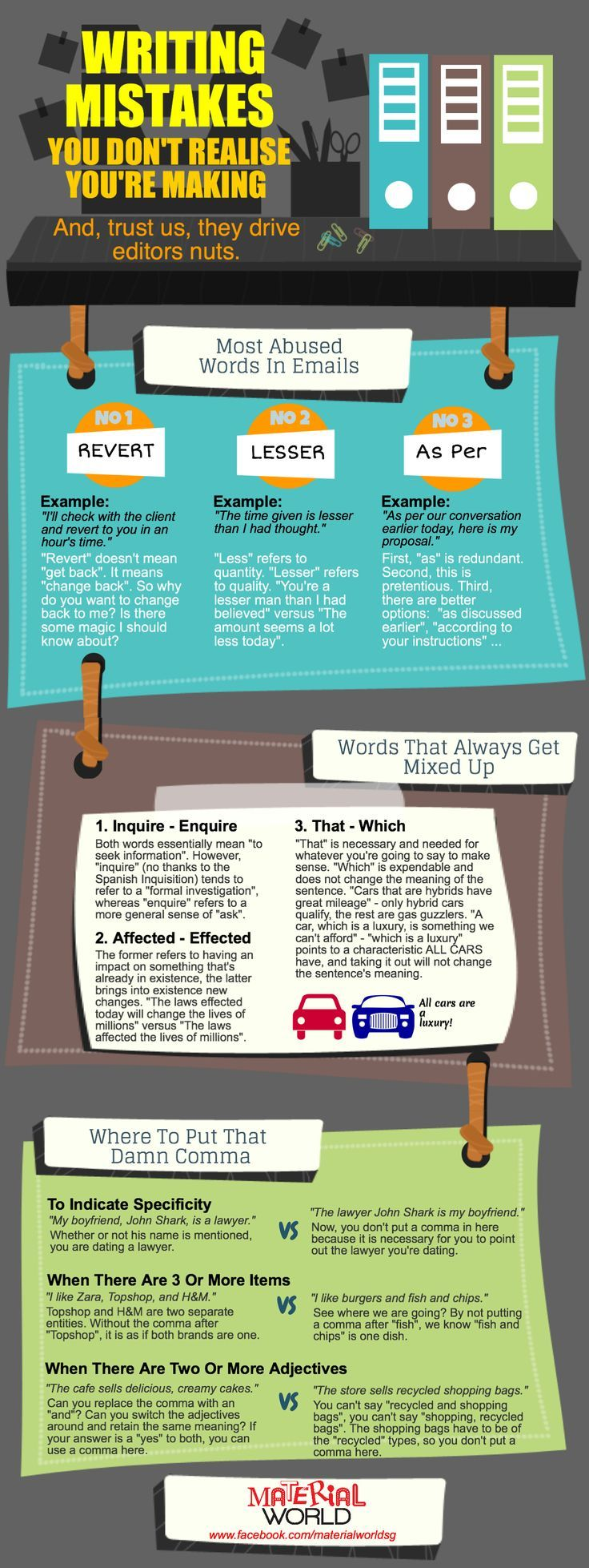 writing infographic Infographic] Writing Mistakes You