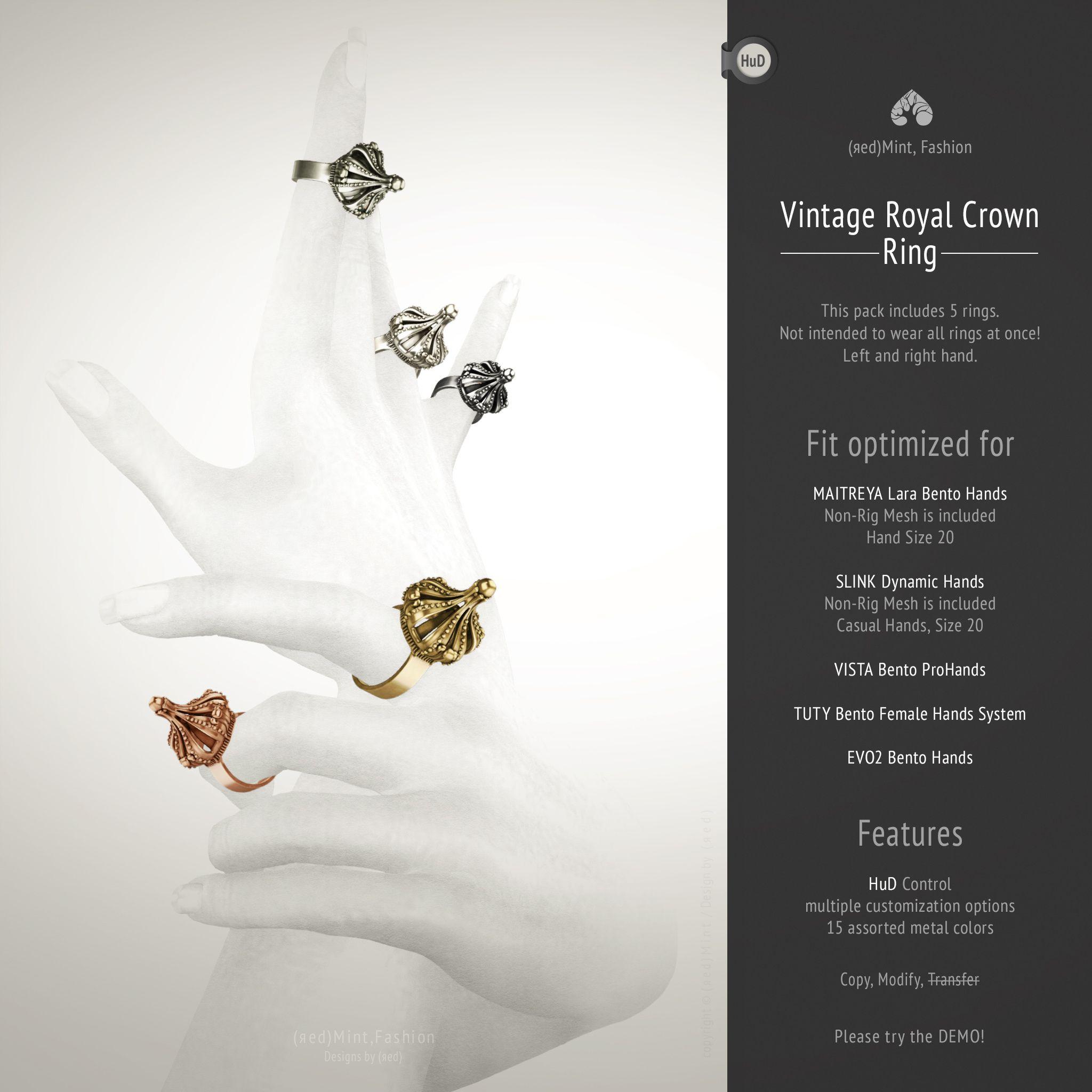 https://flic.kr/p/Wt1kxV | (r)M, Vintage Royal Crown Ring | > more info