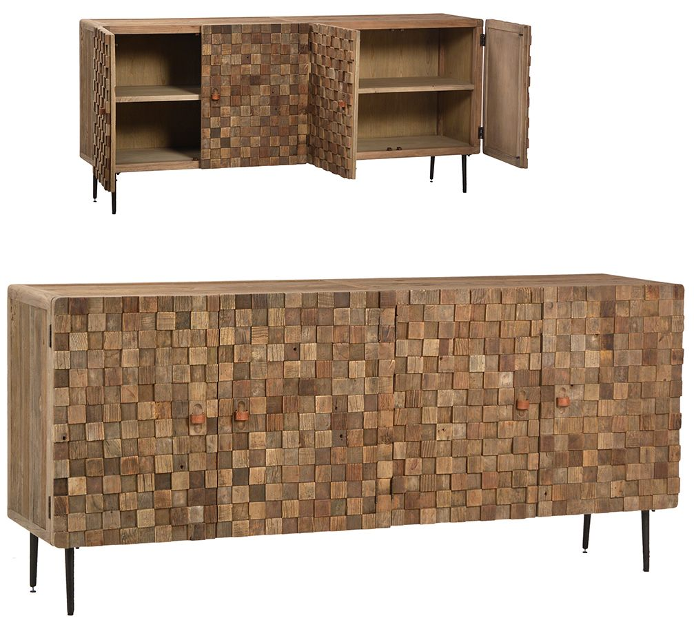 reclaimed wood sideboard perfect for a beach house or city loft, Wohnzimmer dekoo
