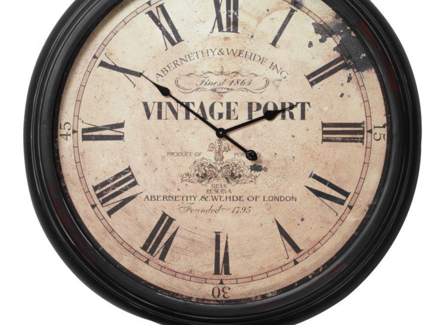 Vintage Port Wall Clock Clocks Accessories Decor Z