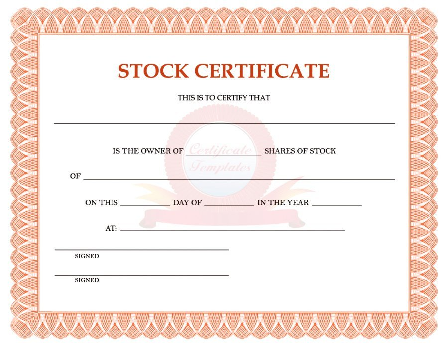 Ownership Certificate Template 4 Templates Example Templates Example Certificate Templates Stock Certificates Best Templates