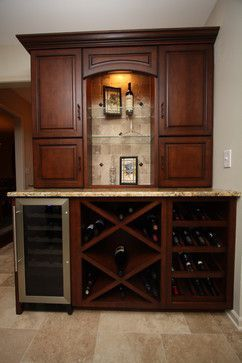 Traditional Home Wine Bar Cabinet Design Ideas, Pictures, Remodel And