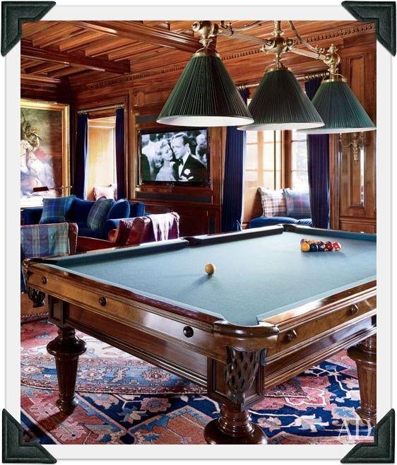 billiard room lighting fixtures. Ralph Lauren\u0027s BEDFORD, NY, BILLIARD ROOM An Antique Three-light . Billiard Room Lighting Fixtures