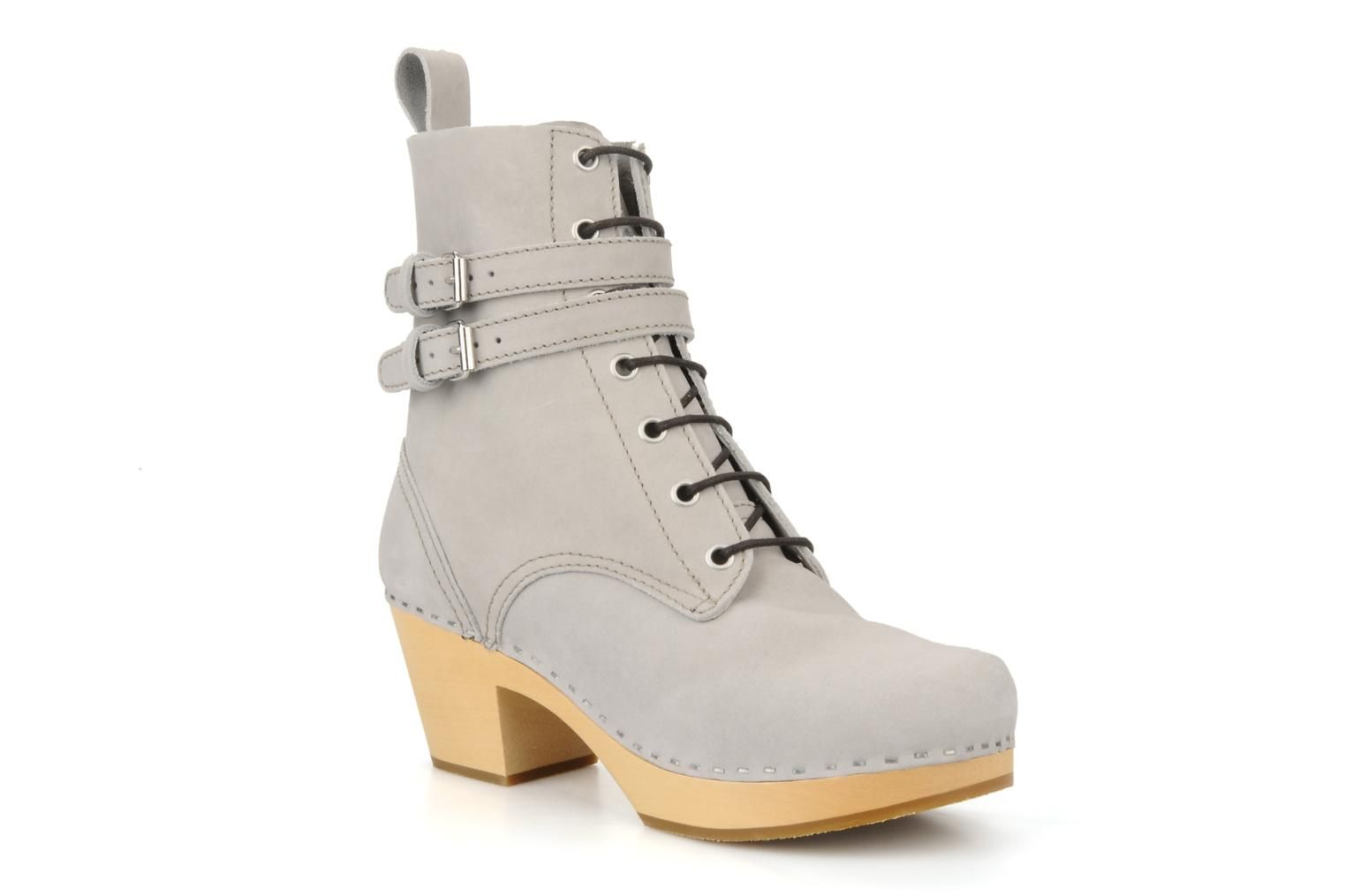 Swedish Hasbeens Combat boot Ankle boots in Grey at Sarenza.co.uk (63401)