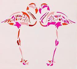 Fuchsia flamingos
