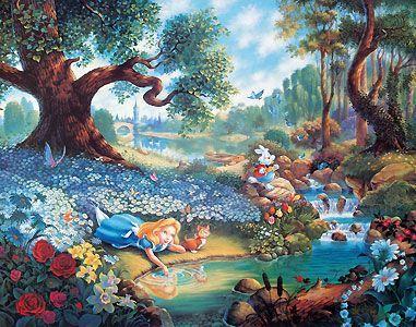 Thomas Kinkade Disney Alice In Wonderland Google Search