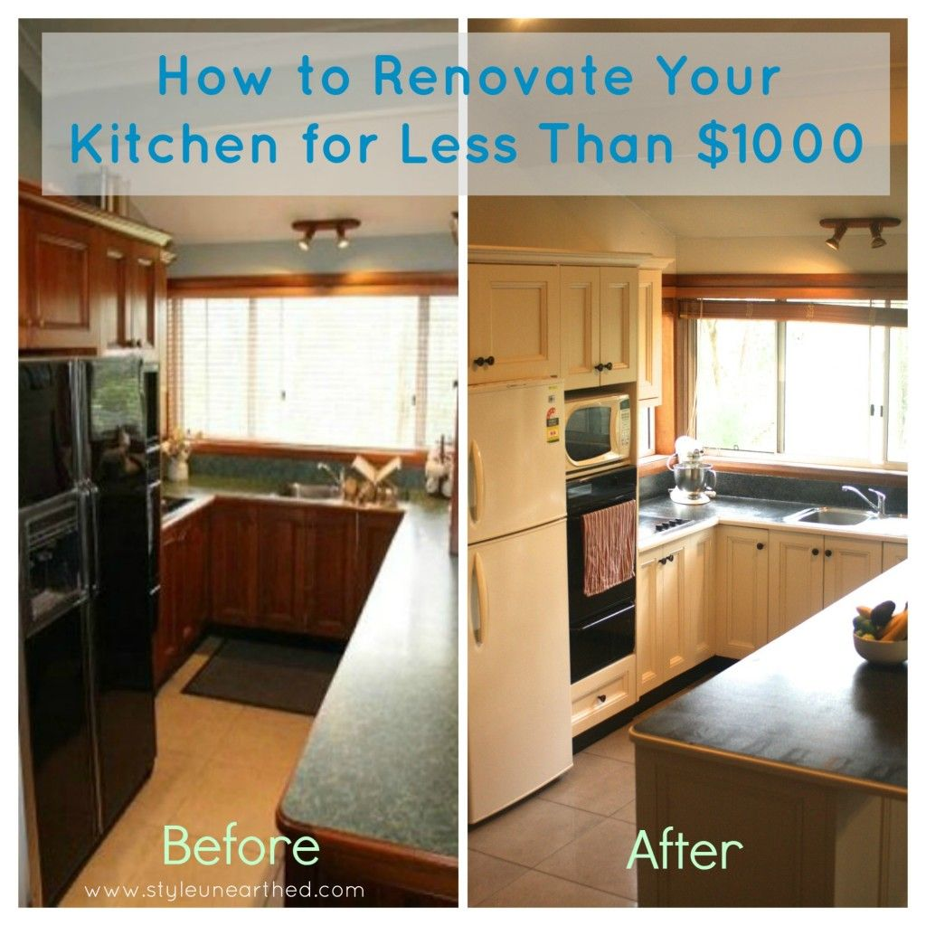 How To Renovate Your Kitchen On A Budget   Less Than $1000! We Turned Our