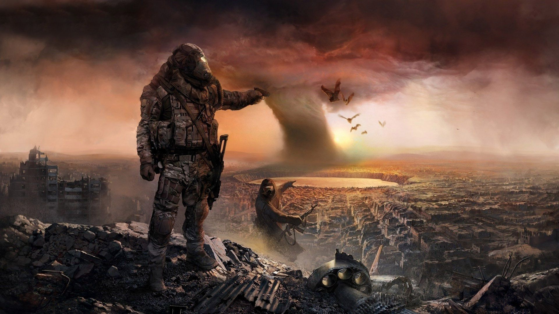 Post Apocalyptic Art Post Apocalyptic City Hd Wallpaper