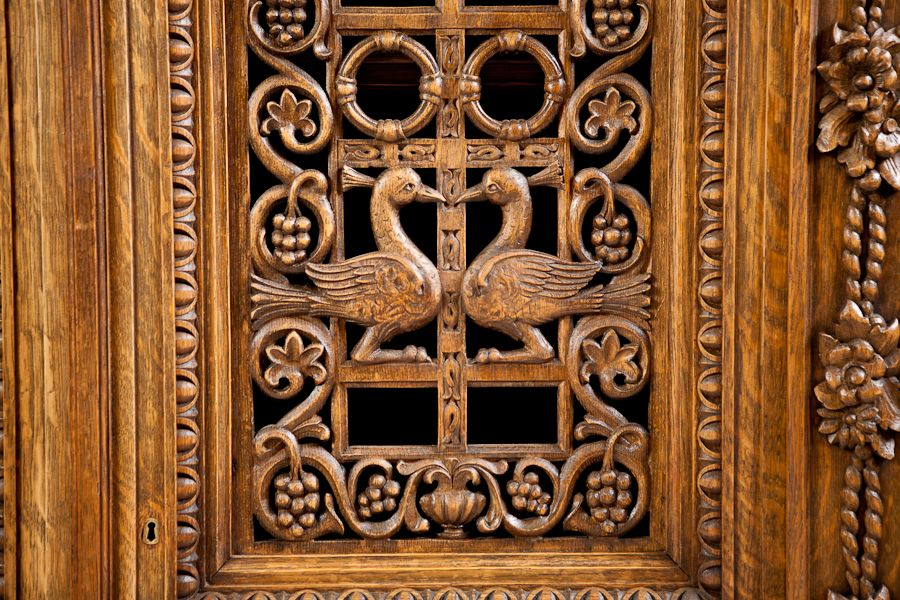 Carved Cabinet Door Panels French Antique Four Door Carved Cabinet