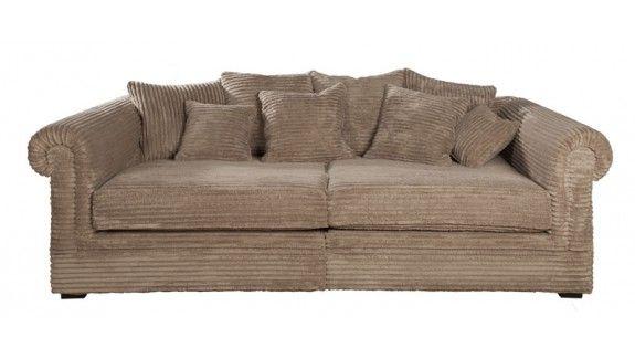 Rib Bank U Vorm.Sofa Lady Sacramento James Taupe Rib Bank Comfortabele