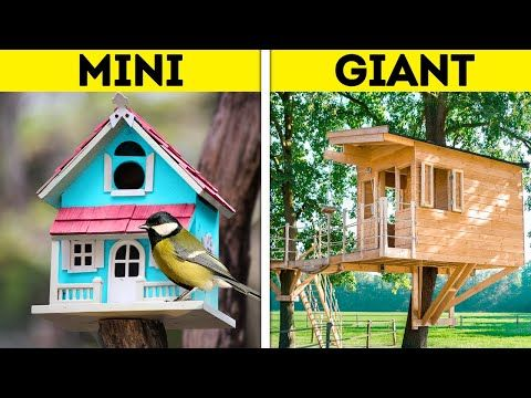 Photo of MINI VS. GIANT || Wonderful DIY House Ideas, 3D-Pen And Polymer Clay Mini Crafts