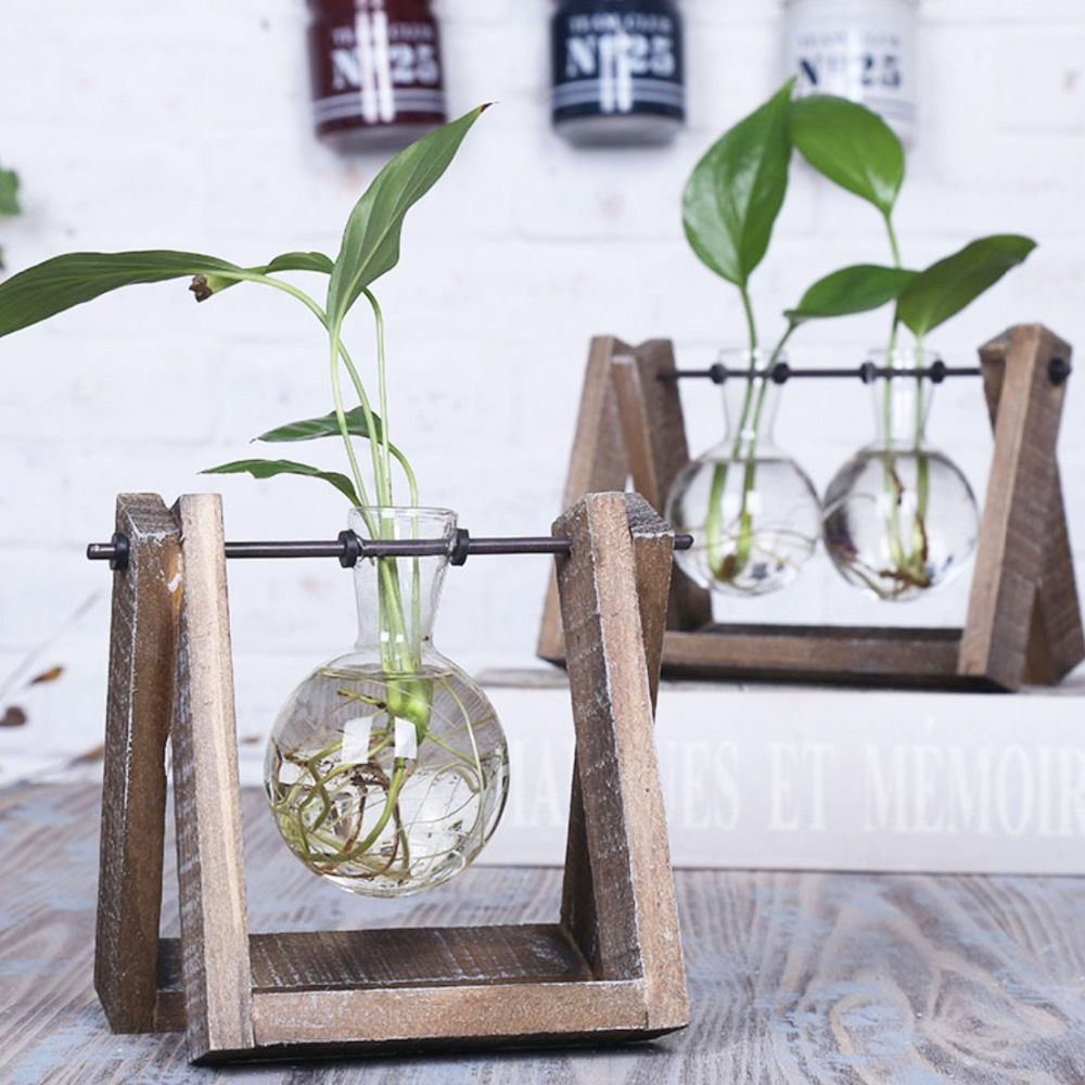Barato mesa de vidro estilo vintage planta bonsai flor do for Mobiliario vintage barato