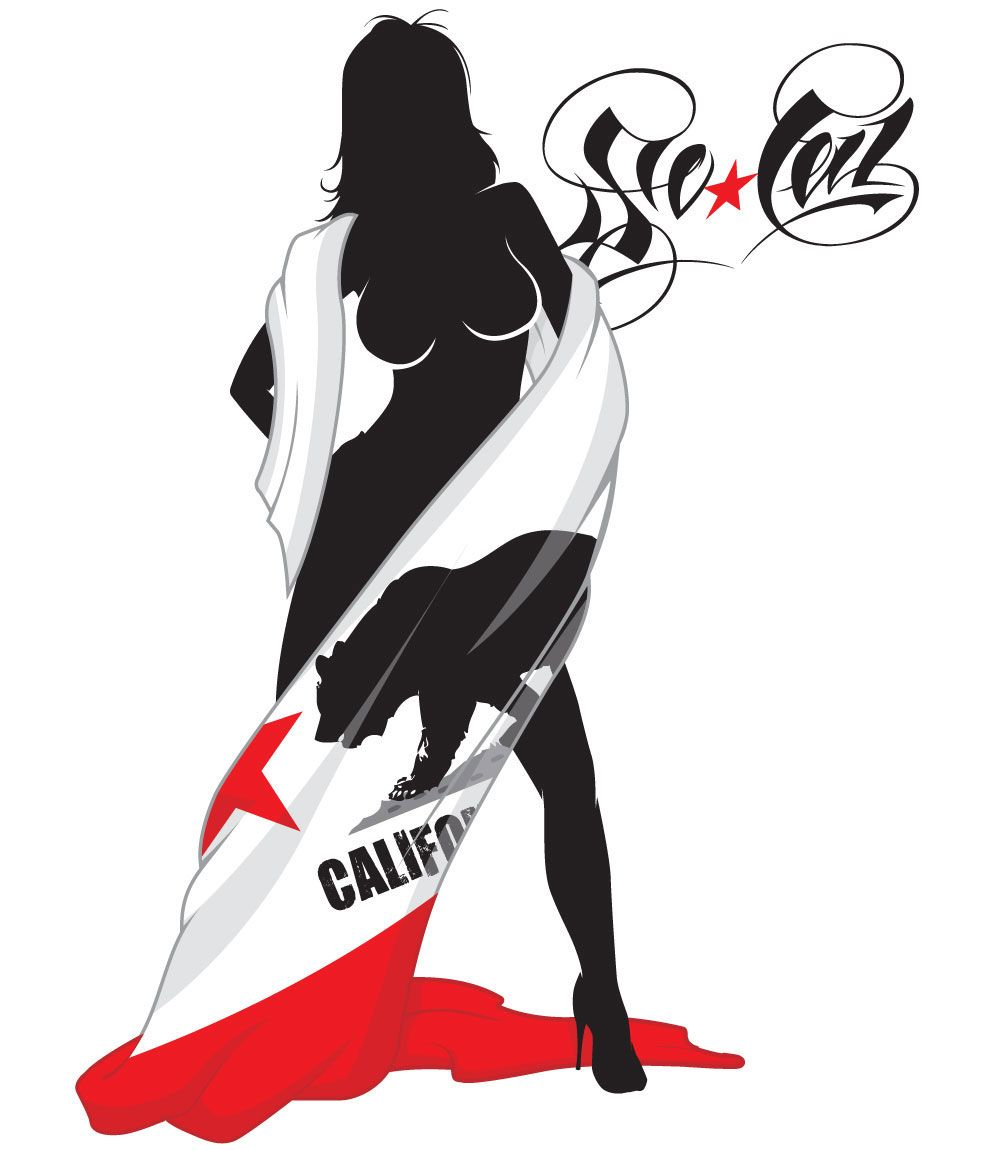 e754057b So Cal Girl Wrapped in California Flag Love | California Love ...